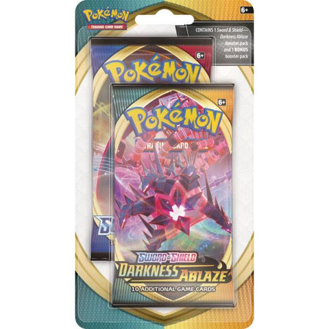 Pokémon TCG: Sword & Shield - Darkness Ablaze Booster Pack w/ Bonus Sword & Shield Booster Pack [Card Game, 2 Players]