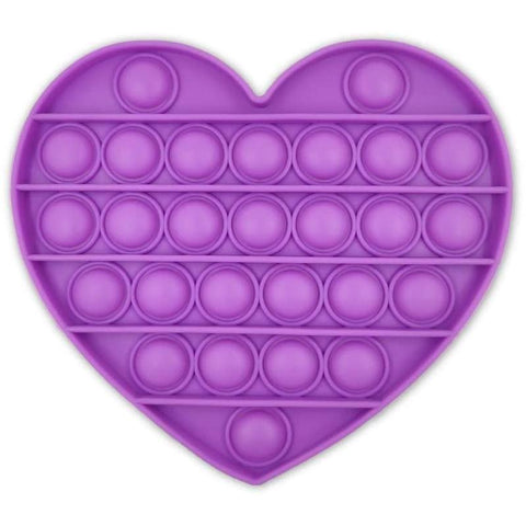 Purple Heart Push Pop Bubble Fidget Toy [Toys, Ages 3+]