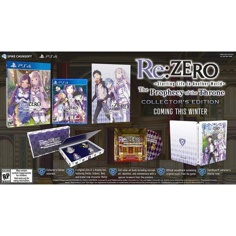 Re:ZERO - Starting Life in Another World: The Prophecy of the Throne - Collector's Edition [PlayStation 4]