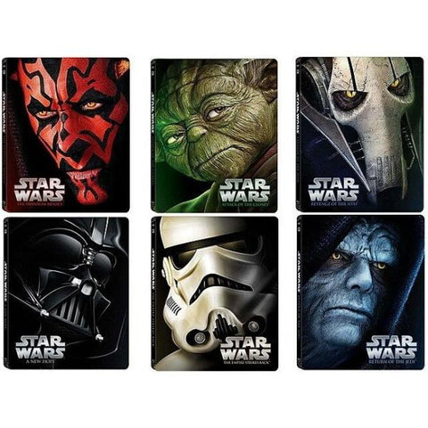 Star Wars: Episodes 1-6 - Limited Edition SteelBook Combo [Blu-ray]