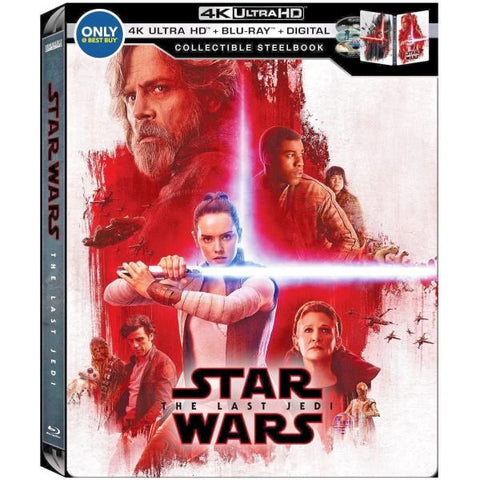 Star Wars: Episode VIII - The Last Jedi - 4K Limited Edition Collectible SteelBook - Best Buy Exclusive [Blu-ray + 4K UHD + Digital HD]