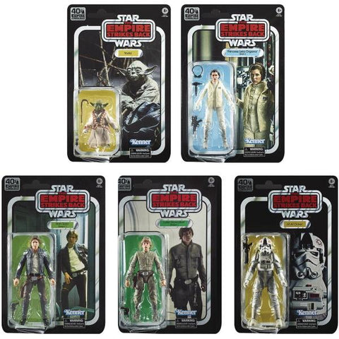 Star Wars: The Black Series - The Empire Strikes Back 40th Anniversary 6-Inch Collectible Action Figures - Set of 5 [Toys, Ages 4+]