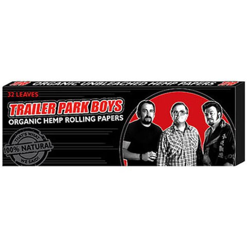 Trailer Park Boys: Organic Hemp Rolling Papers - Black - 32 Papers [Collectible]