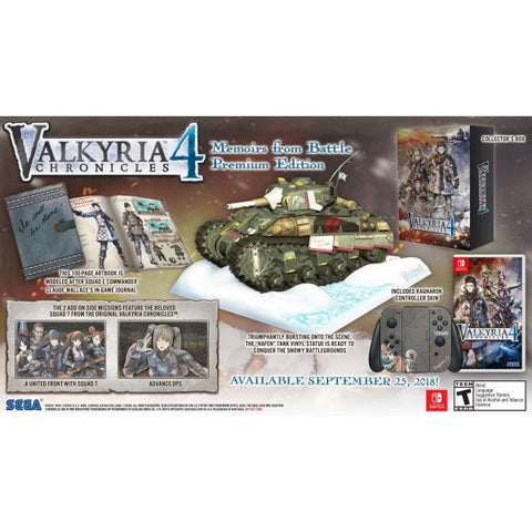 Valkyria Chronicles 4 - Memoirs from Battle Premium Edition [Nintendo Switch]