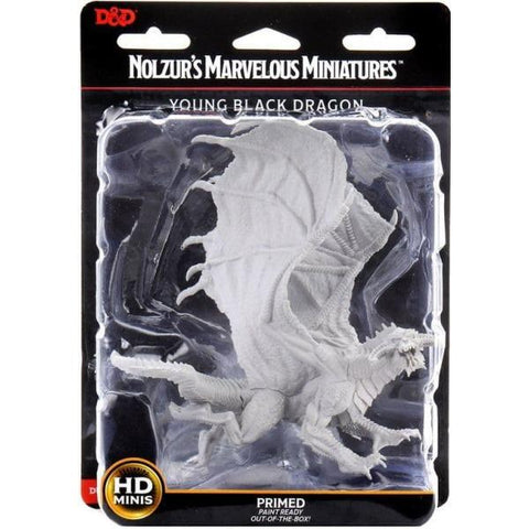 WizKids Dungeons & Dragons: Nolzur's Marvelous Unpainted Miniatures - Young Black Dragon [Board Game Accessory]