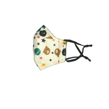 Load image into Gallery viewer, Children's Reusable 100% Cotton Face Mask w Breathing Valve and PM2.5 Filter