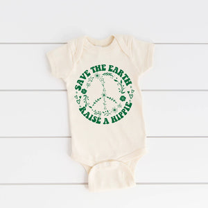 Load image into Gallery viewer, Save the Earth Raise a Hippie - Onesie