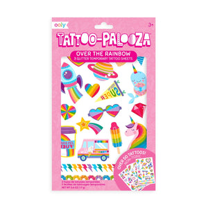 Tattoo-Palooza Temporary Glitter Tattoo: Over The Rainbow