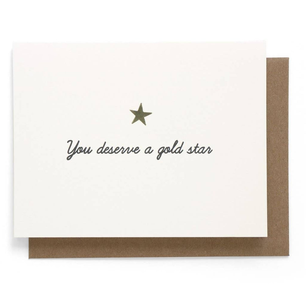 You Deserve A Gold Star Greeting Card