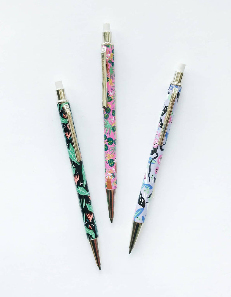 Bright Floral Mechanical Pencils - Set of 3