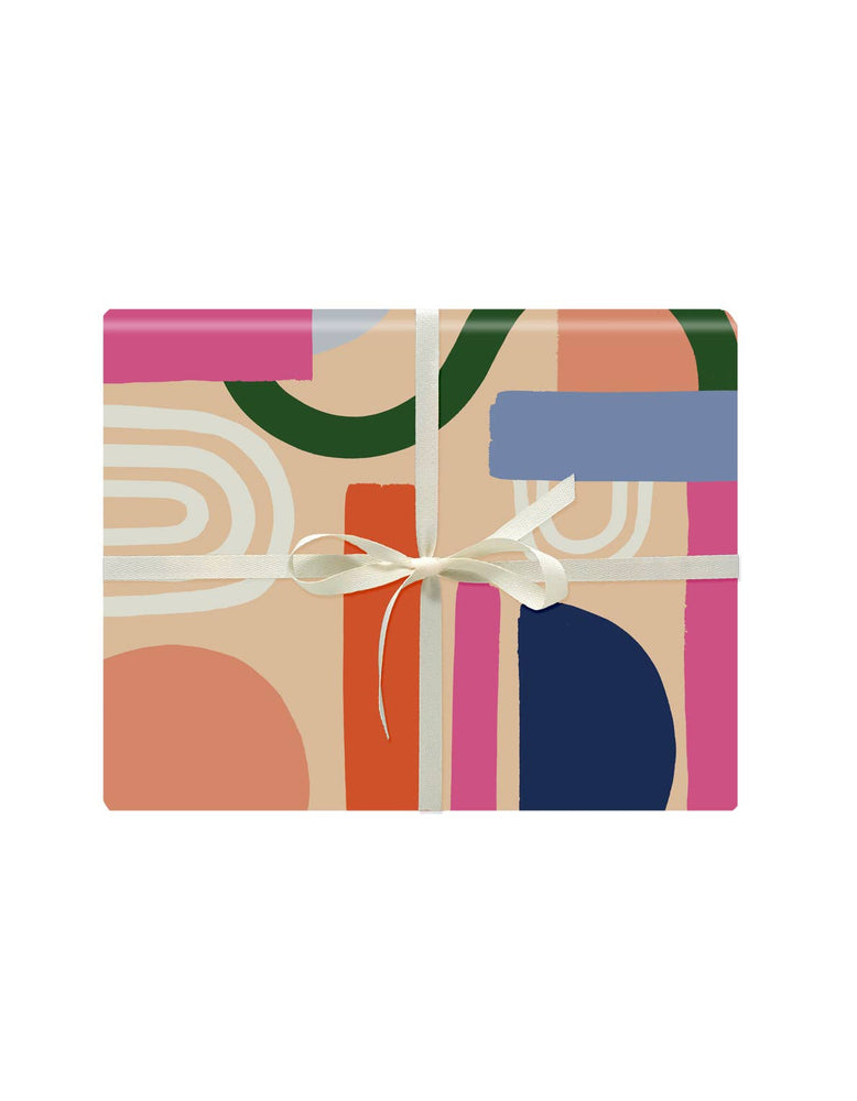 Color Block Gift Wrap - Roll of 3