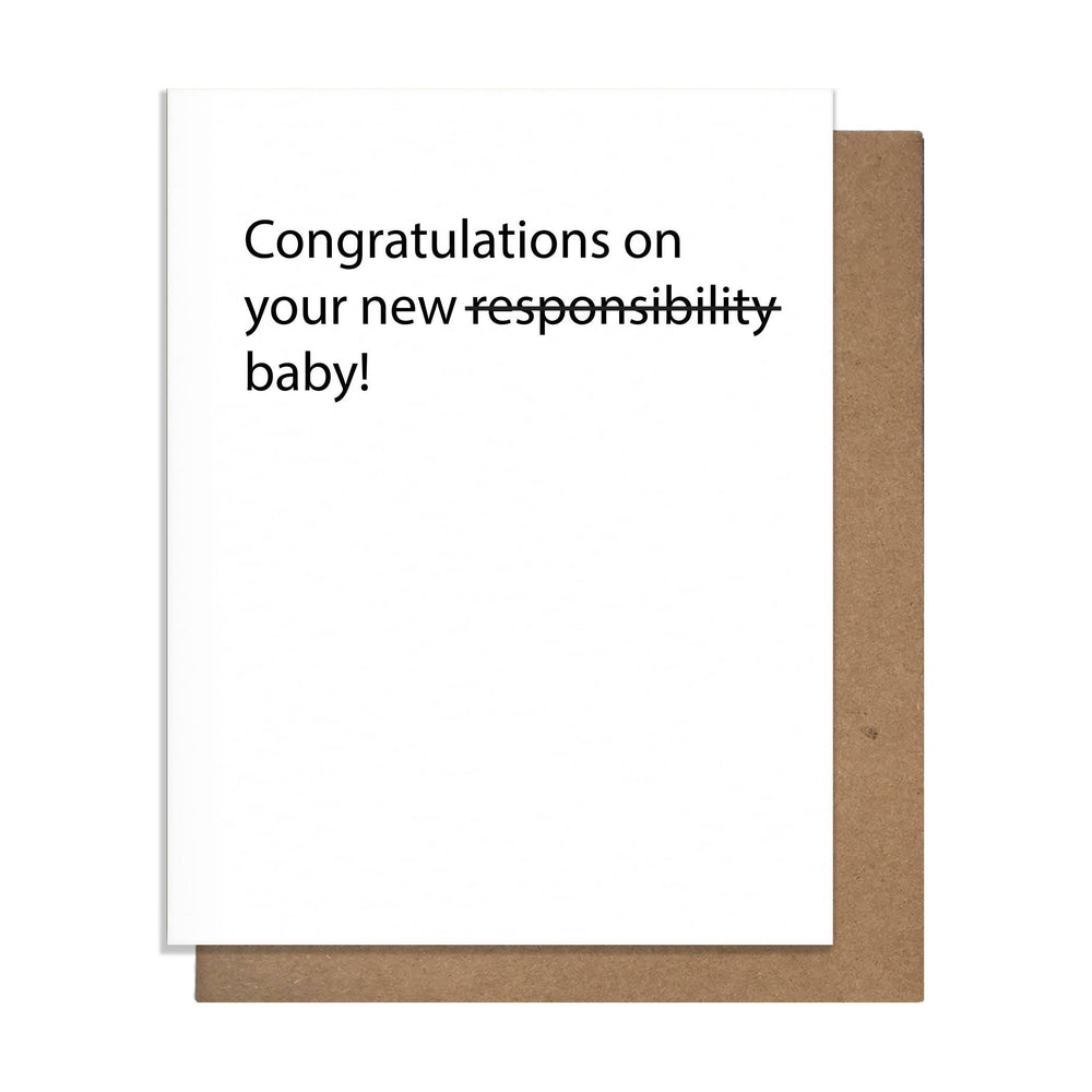 Load image into Gallery viewer, Responsibility Baby Card
