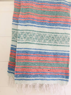 Dreamboat Beach Blanket l Mexican Blanket l Throw Blanket
