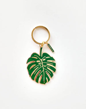 Load image into Gallery viewer, Monstera Keychain