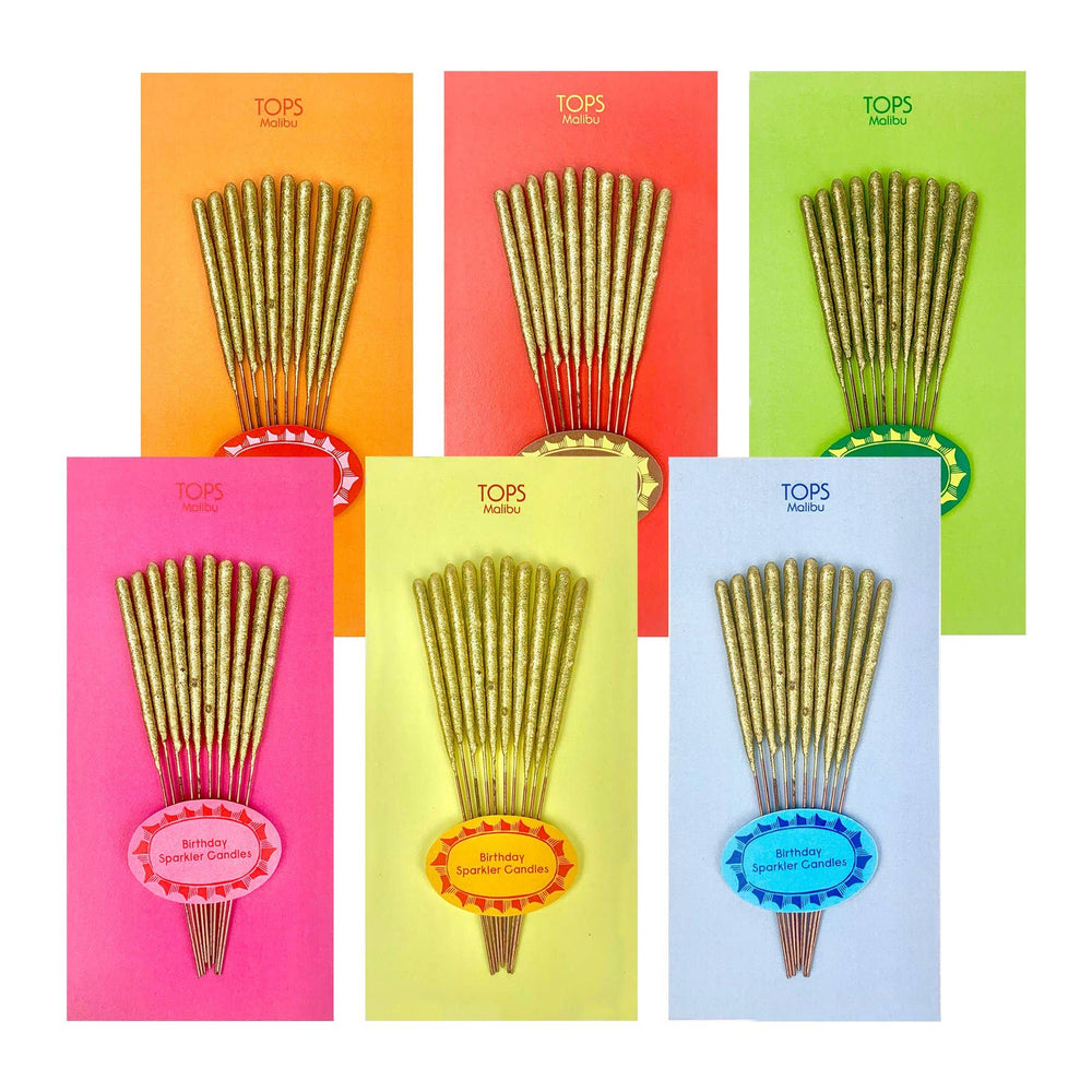 Mini Birthday Sparkler Candles - Assorted Colors