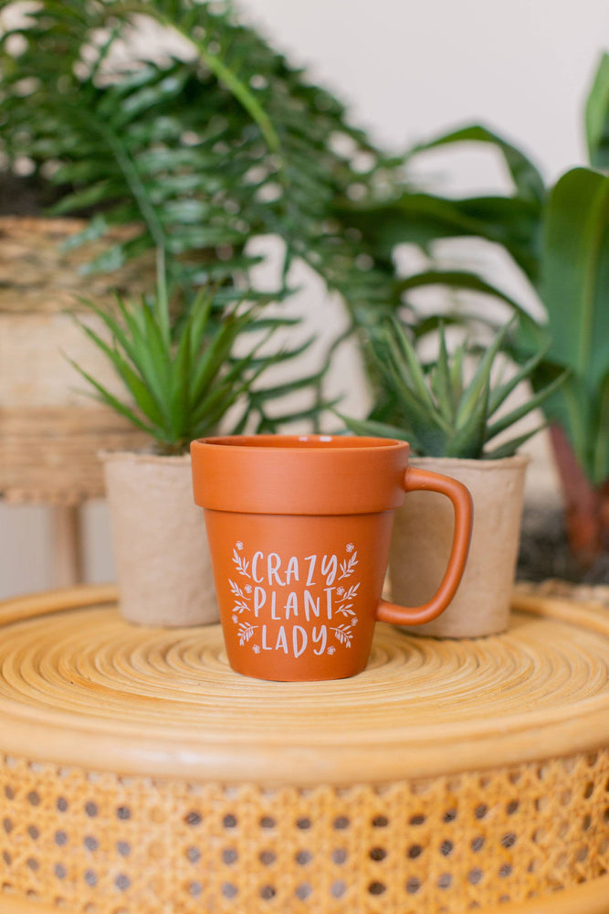 Load image into Gallery viewer, Crazy Plant Lady Terracotta Coffee Mug