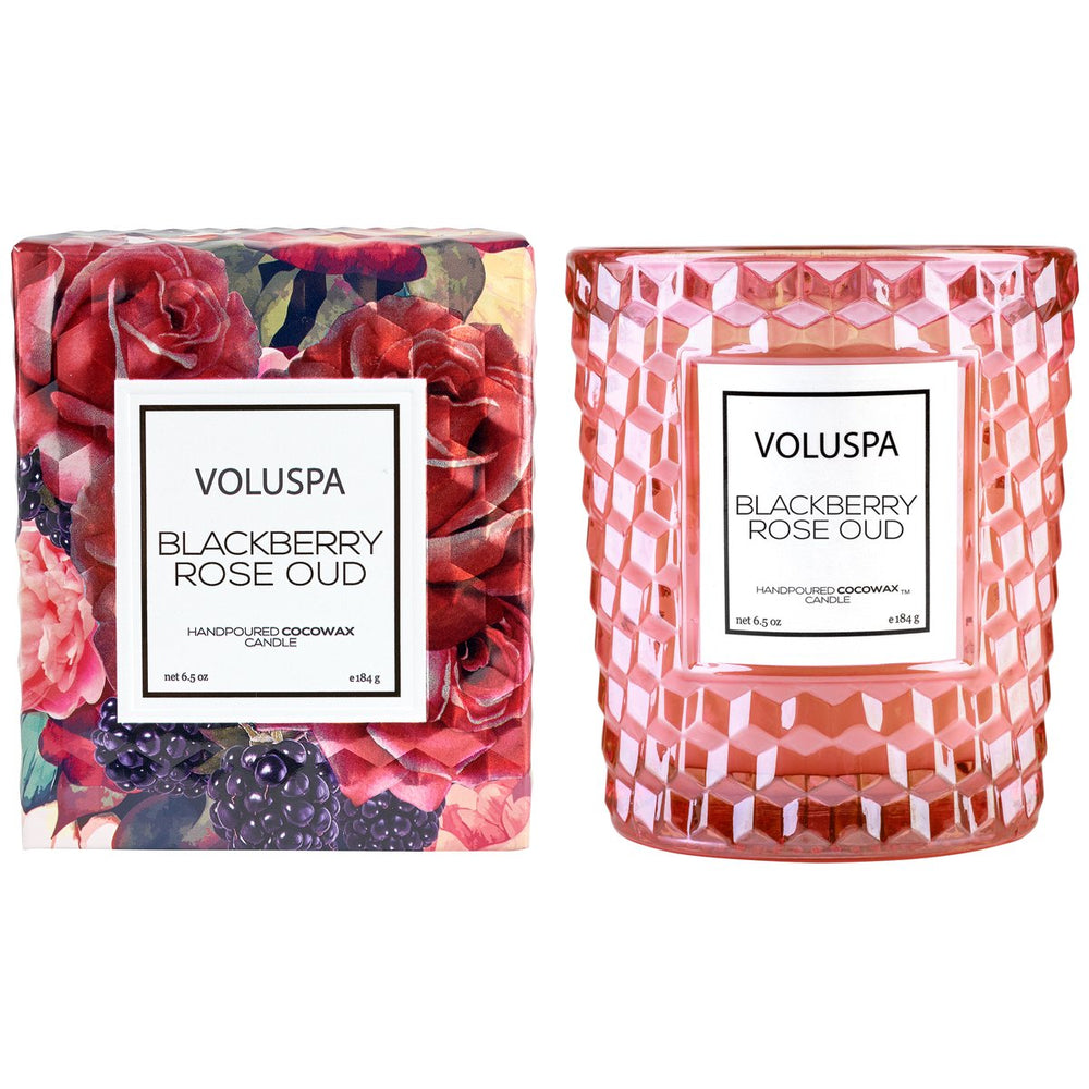 Blackberry Rose Oud Classic Glass Candle