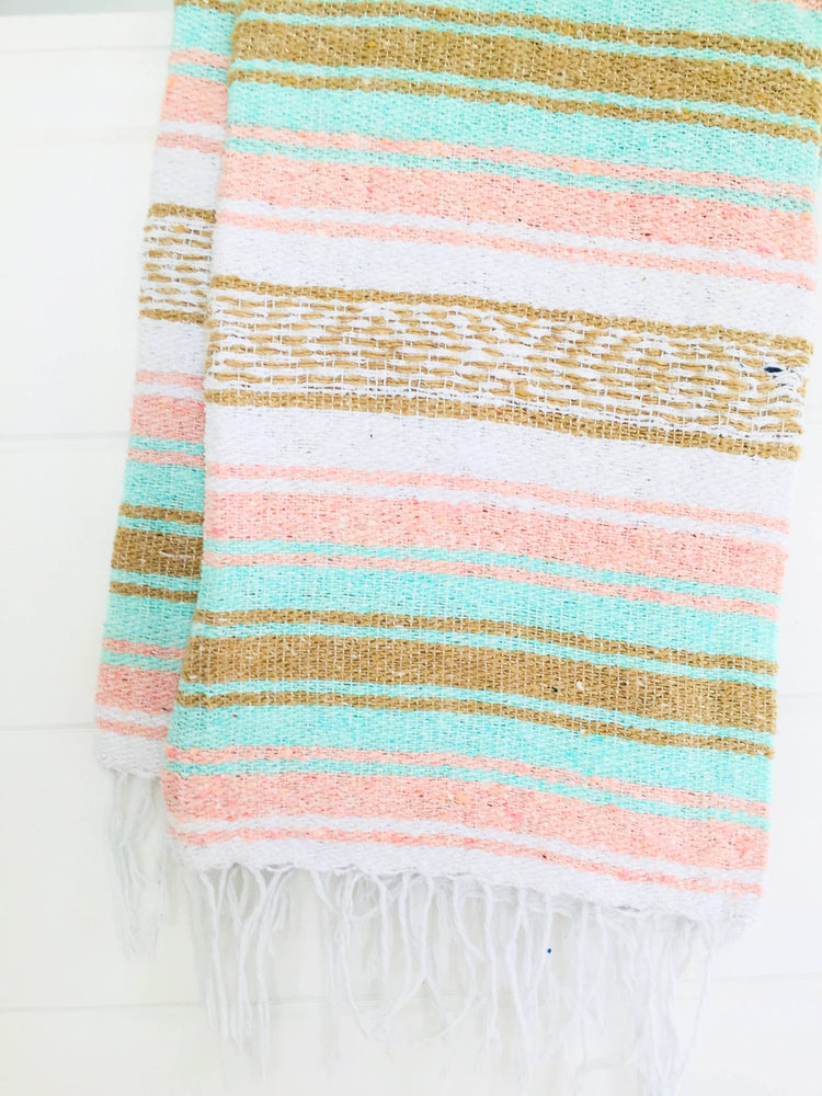 Peach Paradise Beach Blanket l Mexican Blanket l Throw
