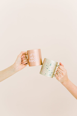 Printed Metallic Mugs - No Worries