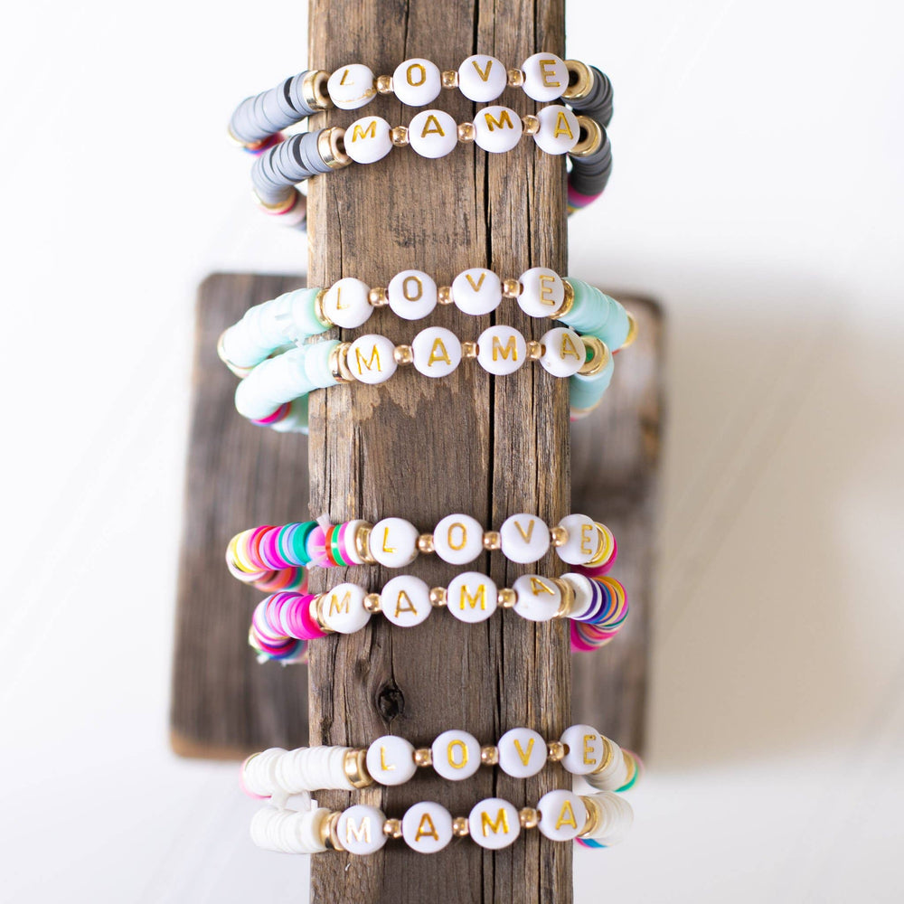 Load image into Gallery viewer, Mama Stretchy Stack Bracelet Set