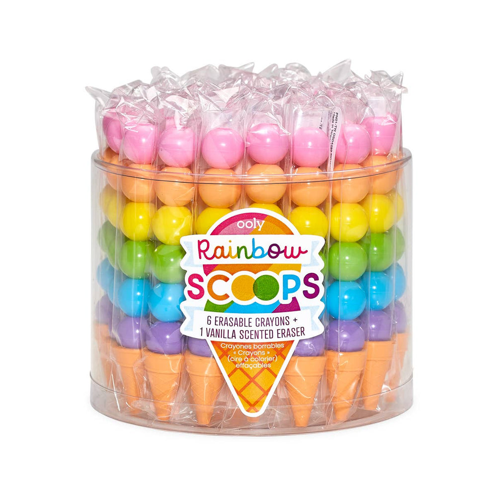 Rainbow Scoops Vanilla Scented Stacking Erasable Crayons