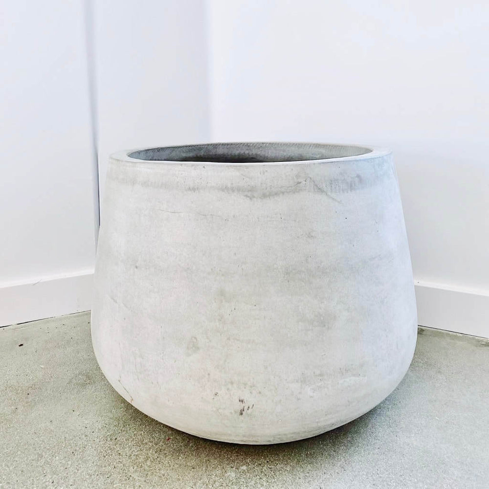 Pear Bottom Cement Pot