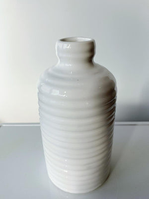 "Load image into Gallery viewer, 6.25"" Tall Glossy Ceramic Jug Vase"