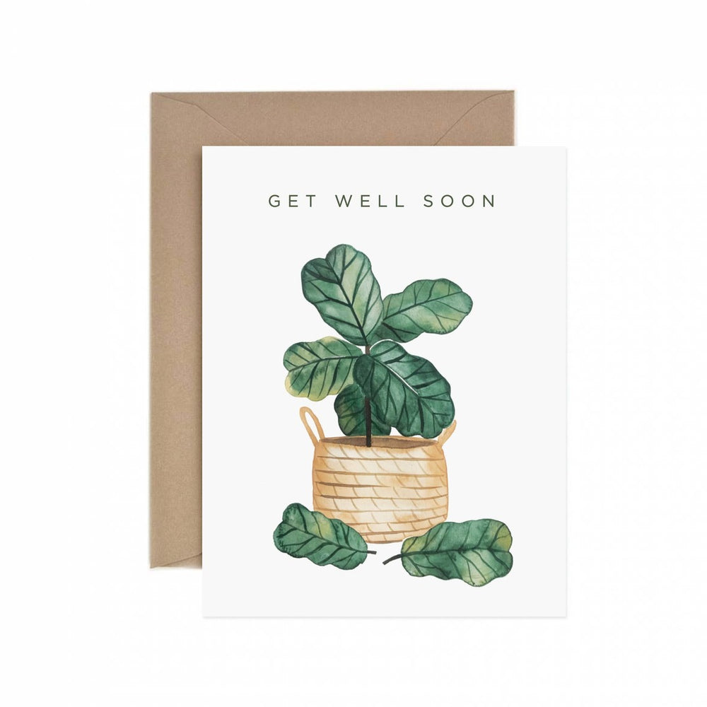 Load image into Gallery viewer, Get Well Soon Fiddle Leaf Fig Greeting Card