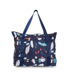 Kaleido Concepts - Large Navy Tidal Packable Tote Bag