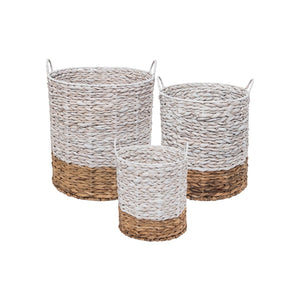 Ariana Natural Baskets White