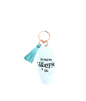 Load image into Gallery viewer, Living My Okayest Life Keychain