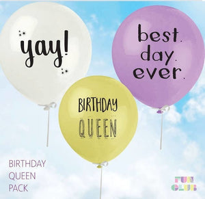 Birthday Queen Pack Balloons