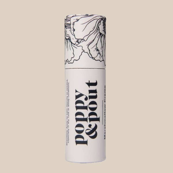 Marshmallow Creme Lip Balm, Flower Powered Lip Care