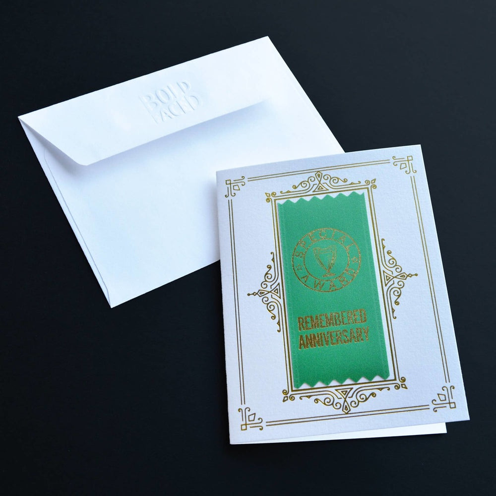 Remembered Anniversary Ribbon Card