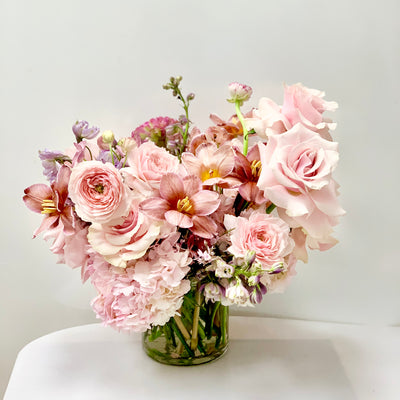 Blushing Babe - A Sophisticated Blush Floral Arrangement