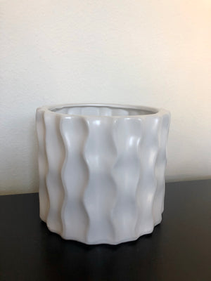 Textured Pattern Cylinder - White
