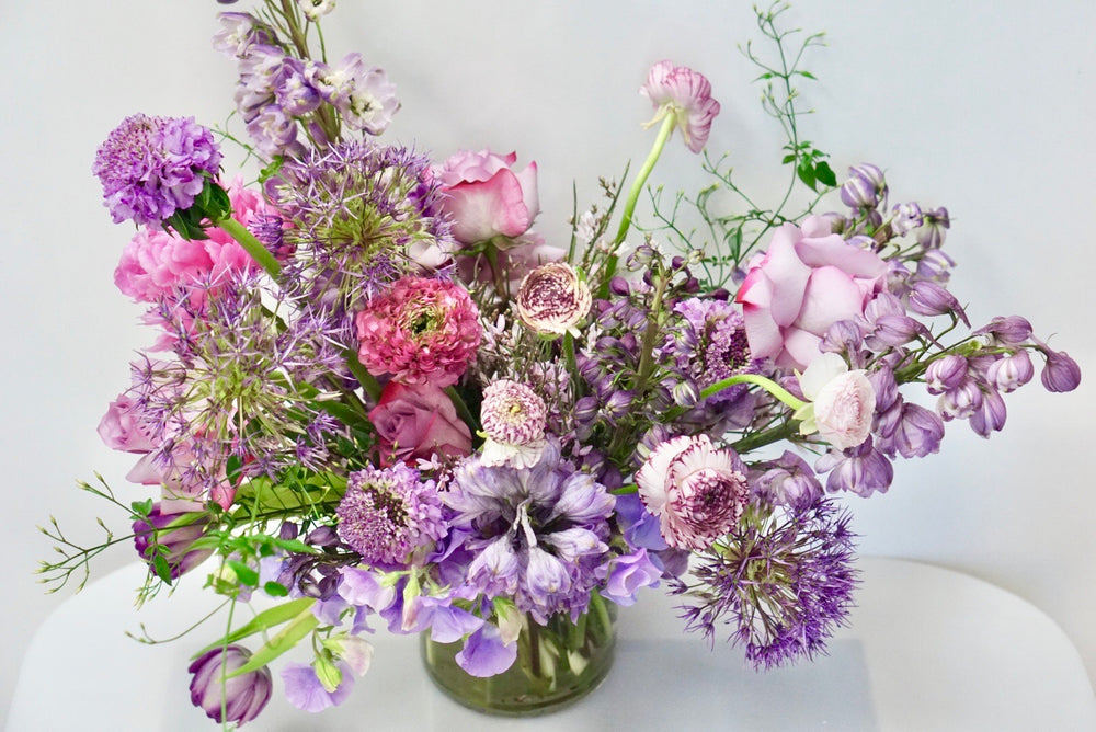 Lavender Wildchild - a wild mix of lavender toned florals