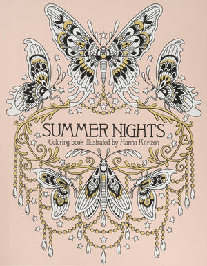 Load image into Gallery viewer, Summer Nights Coloring Book by Hanna Karlzon