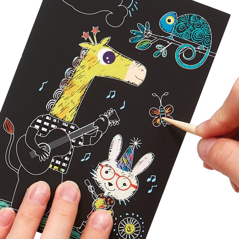 Load image into Gallery viewer, Mini Scratch & Scribble Art Kit: Safari Party