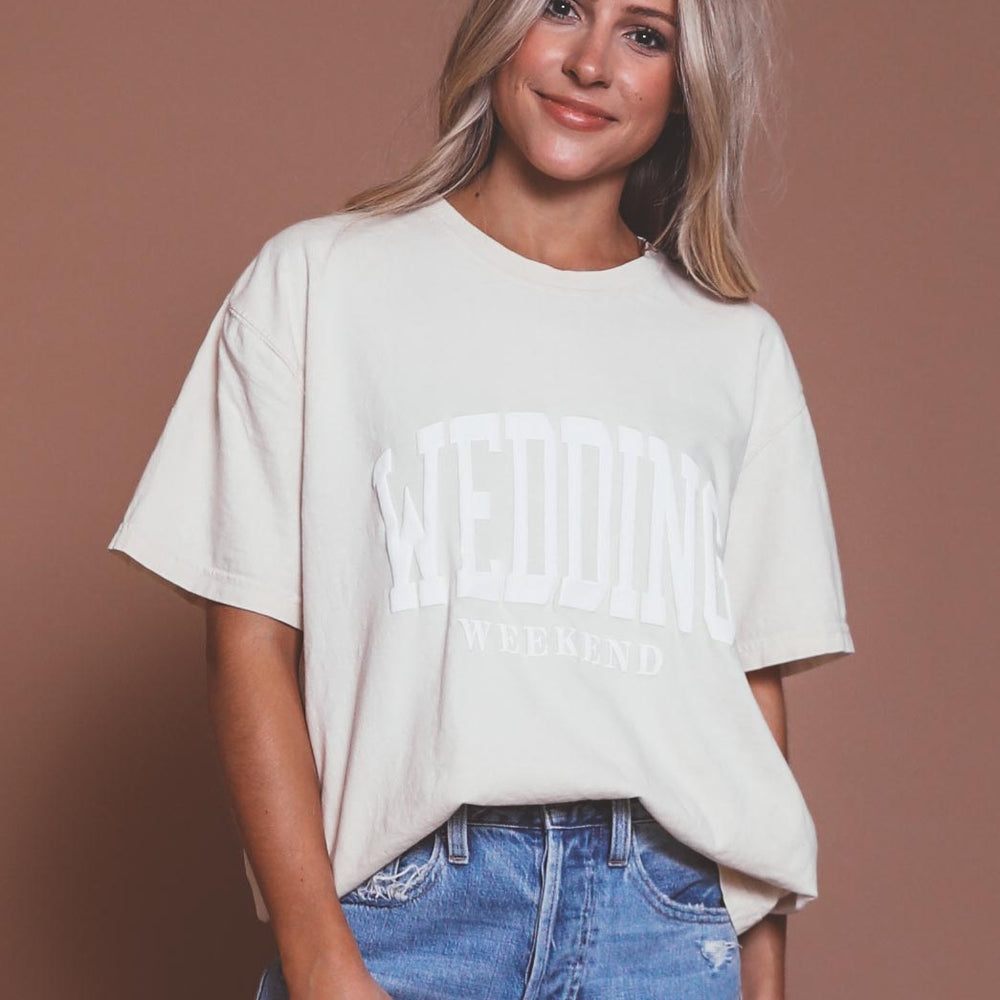 Wedding Weekend Puff Ink Tee