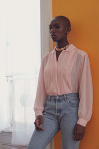 Can't Colonize The Vibe | Romantic Pink Pleated Shirt