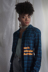 Unisex Plaid Flannel | Can't Colonize the Vibe
