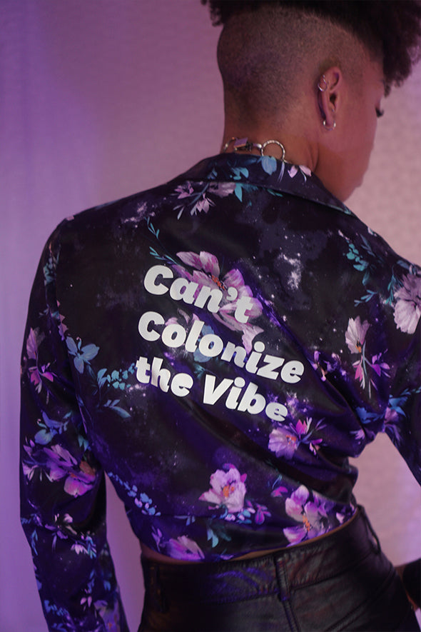 Can't Colonize the Vibe | Floral Shirt
