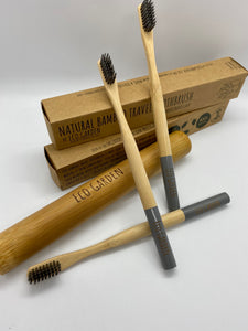 Bamboo Travel Toothbrush (Pewter Grey)