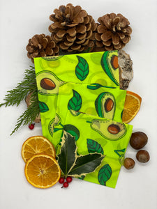 Limited Edition Handmade Beeswax Food Wraps (in Avocado)