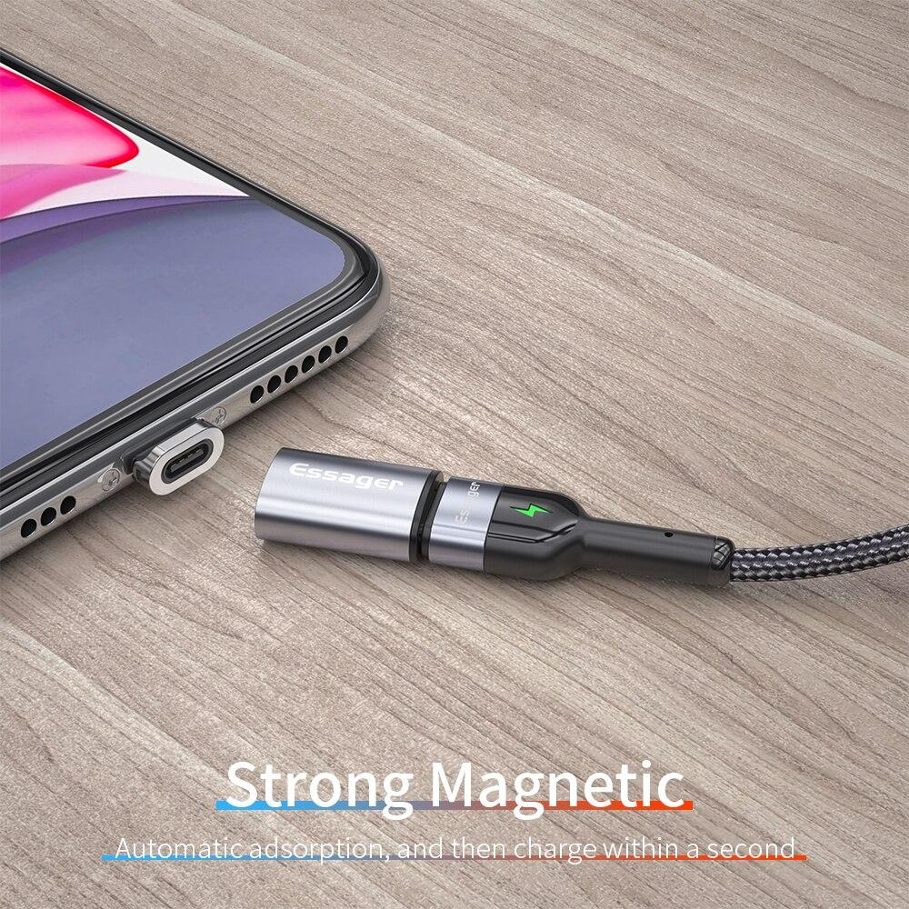Essager USB Type C Magnetic Adapter USBC Female To Micro Male Converter Magnet USB-C Type-C Connector For iPhone Oneplus Xiaomi - MultiShop sàrl