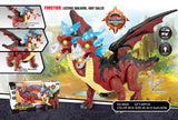 walking dinosaur toy with wings multiple heads