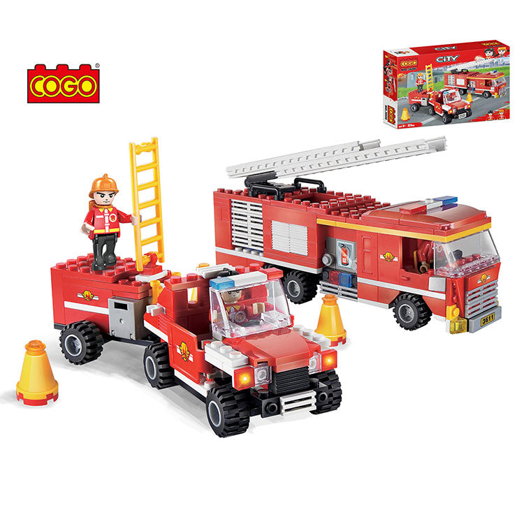 fire engine building blocks