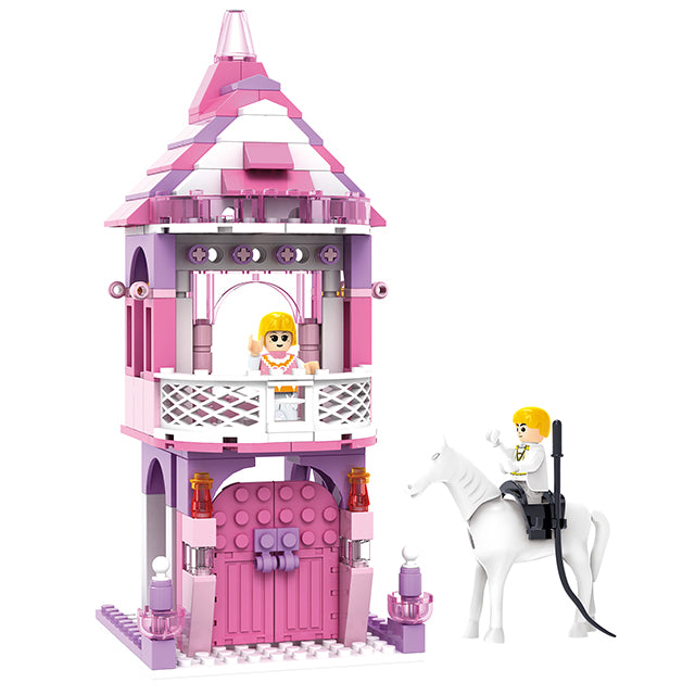 New princess castle play toy build block kit girls toys-1