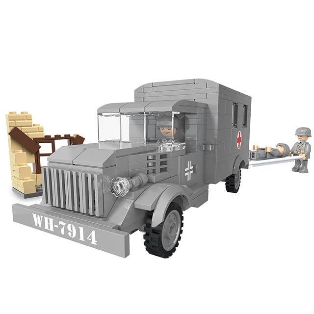 Funny blocks toys military ambulance blocks play toys-4